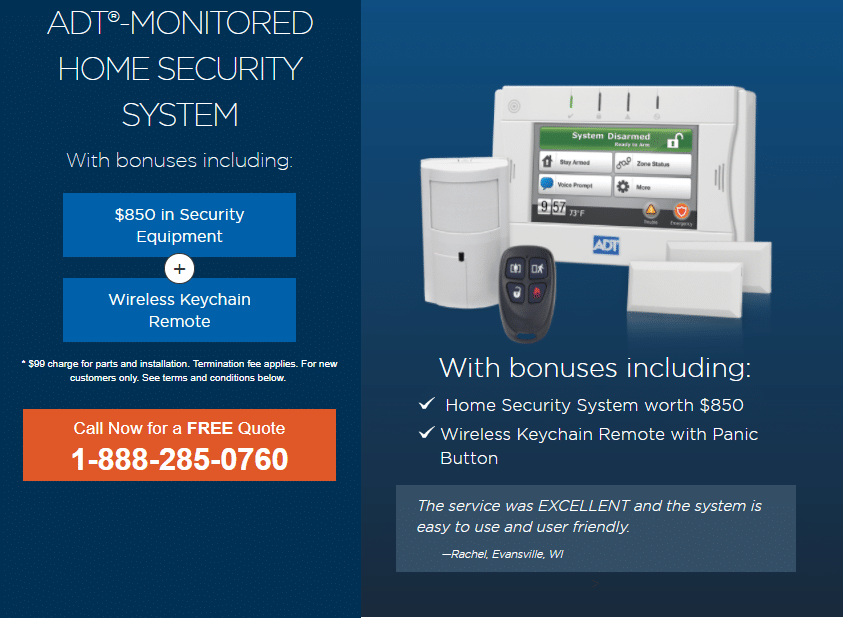 Adt Security Monthly Cost