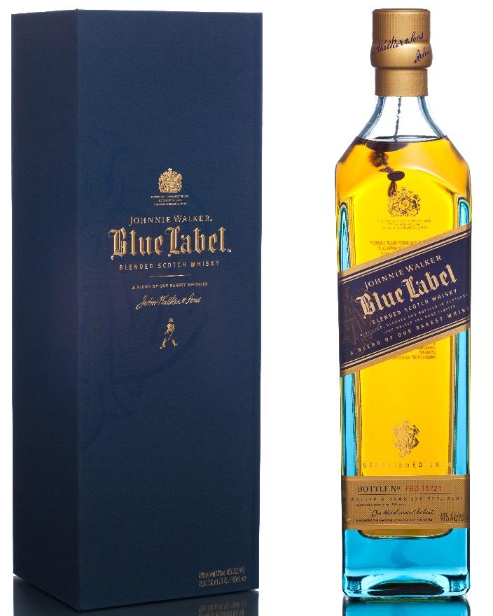 Johnnie walker hình ảnh nhãn màu xanh