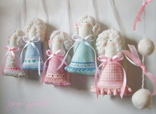 Tekstil bebek üzerinde ana sınıf. Tekstil bebek üzerinde MK. Noel meleği