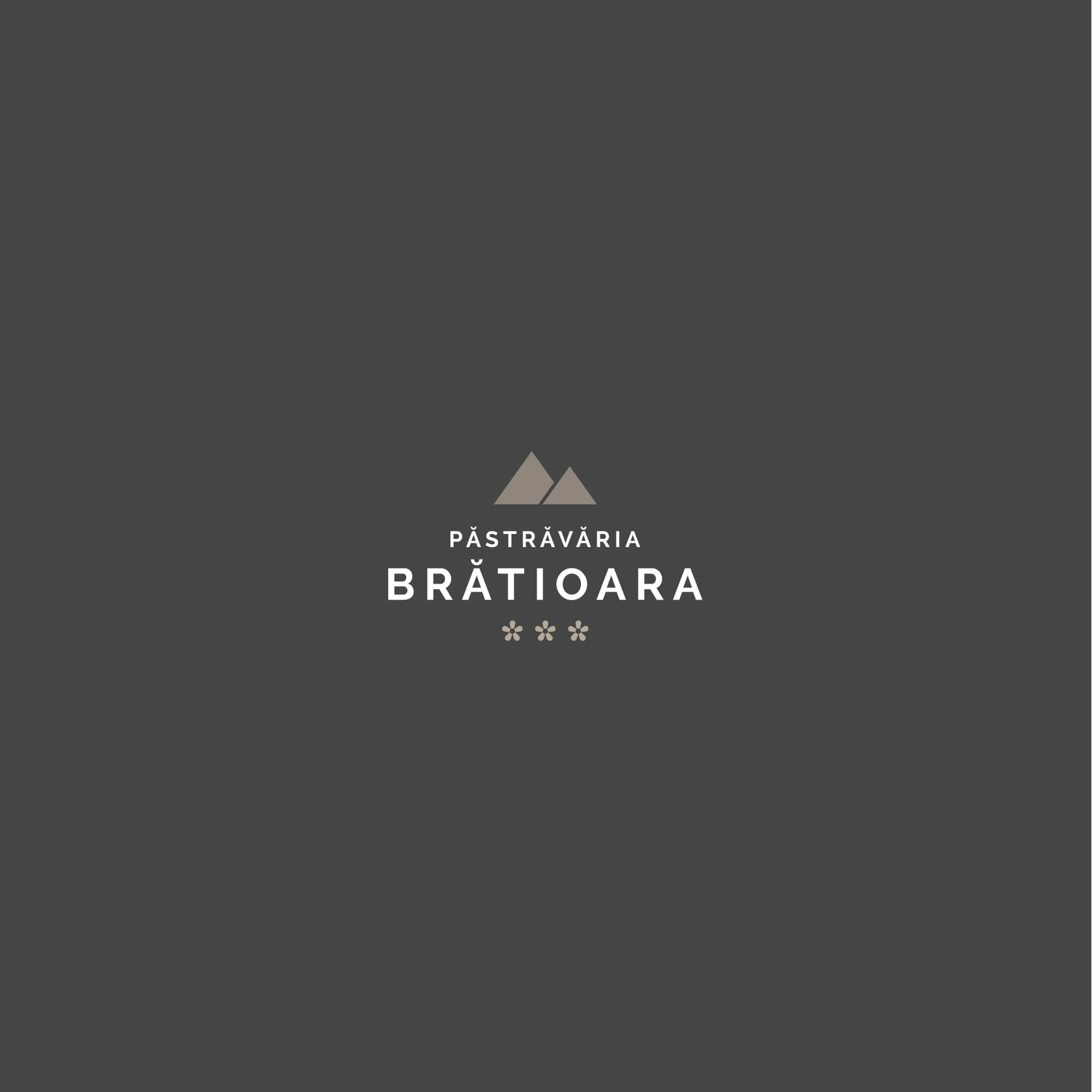 Logo Pastravaria Bratioara, trout farm in the mountains, a relaxing place with amazing scenery.