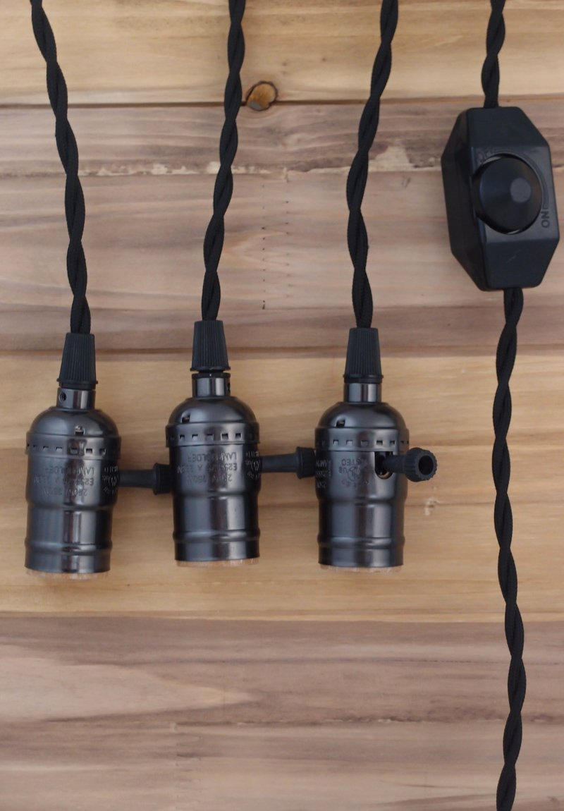 Triple Socket Pendant Light Cord Kit