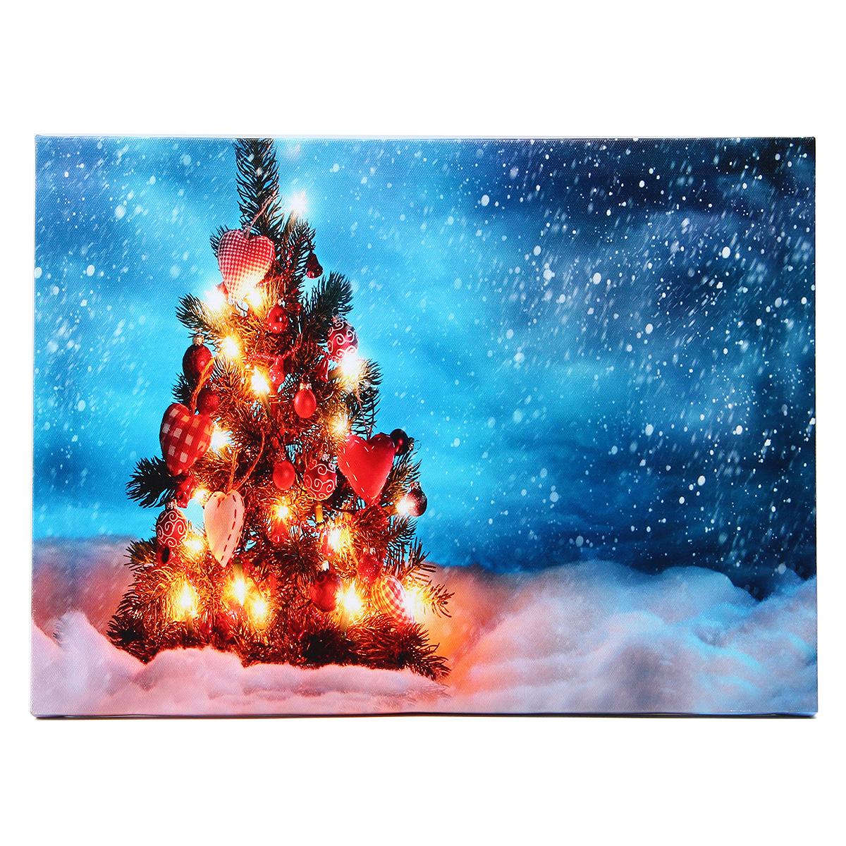 Christmas Night Led Canvas Art Print