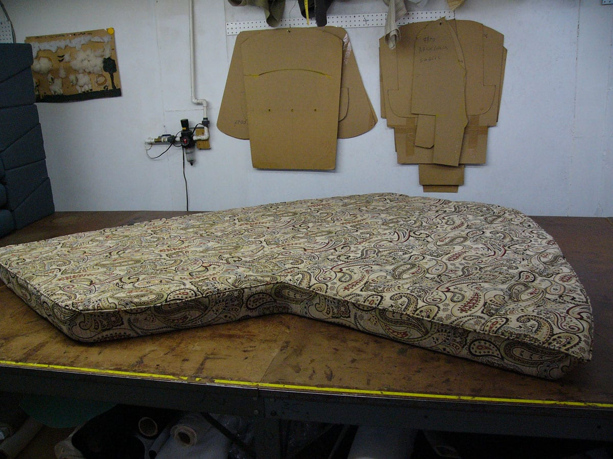 New Interior Cushion For Boat Upholstery Upholstery Shop