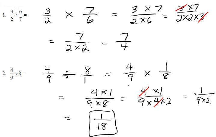 Multiplication Answers Improper Fractions