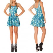 2014-New-Sexy-Women-dress-Cartoon-Adventure-Time-Dress-BRO-BALL-REVERSIBLE-SKATER-DRESS-Pleated-Sun-4