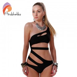 2015-New-White-One-Piece-Swimsuit-Sexy-Cut-Out-Bandage-Swimwear-Women-Shoulder-Strap-Bathing-suits-1