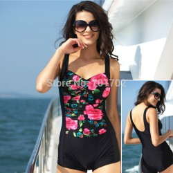 2015-flower-retro-one-piece-swimsuit-trunks-no-steel-sexy-black-blue-backless-padded-swimwear-swimming-1