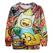 B5042-Alisister-Harajuku-Women-Adventure-Time-Sweatshirt-3D-Print-Cartoon-Biscuit-Men-Hoodies-Pullovers-Autumn-Winter-2