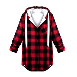 Casual-Women-Red-Plaid-Long-Sleeve-Coat-Jacket-Sweatshirt-Hooded-Outerwear-Jumper-Pullover-Plaid-Sudaderas-Mujer-1