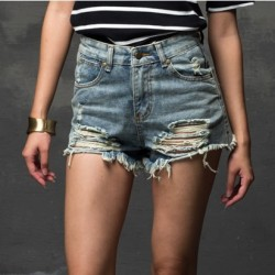 Fashion-2015-Summer-Women-New-High-Waist-Denim-Shorts-Frayed-Hole-Female-Super-Cool-Flash-Shorts-1