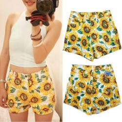 Fashion-Womens-Summer-Casual-SUNFLOWER-Print-High-Waist-HOT-Shorts-1-1