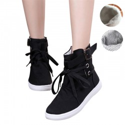 Promotion-Women-Buckle-Strap-Flats-Shoes-Ladies-Female-Casual-Lace-Up-High-Top-Canvas-Breathable-Walking-1