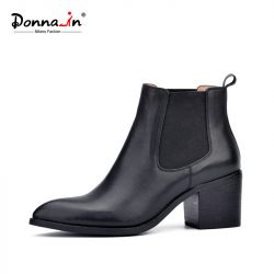 Donna-in-2016-new-style-leather-ankle-boots-pointed-toe-thick-heel-elastic-women-s-short-1