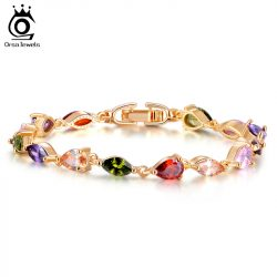 Trendy-18K-Rose-Gold-Plated-AAA-Colorful-Cubic-Zircon-Mona-Lisa-Bracelet-for-Women-Birthday-Gift-1