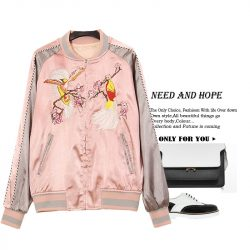 XITAO-NEW-autumn-women-s-casual-style-slimming-form-full-regular-sleeve-stand-collar-embroidery-1