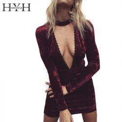 HYH-HAOYIHUI-Sexy-Halter-Lace-Velvet-Dress-Women-Side-Split-Party-Bodycon-Dress-Autumn-Winter-High-1