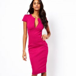 Summer-Charming-Sexy-Pencil-Dress-Celebrity-Style-Fashion-Pockets-Knee-length-Bodycon-Slim-Business-Sheath-Party-1