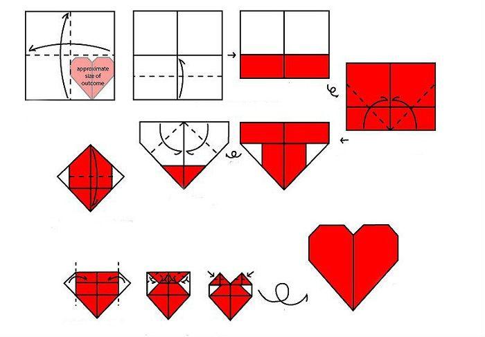 Σχέδιο συναρμολόγησης καρδιά Origami
