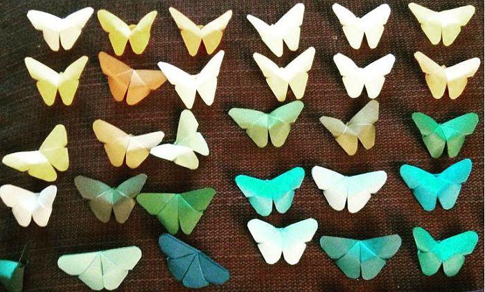 Бабочки из бумаги для детей