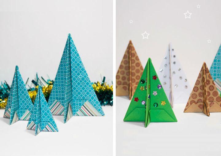 Рождество үш өлшемді шыршаларды құрастыруға арналған қадамдық нұсқаулық