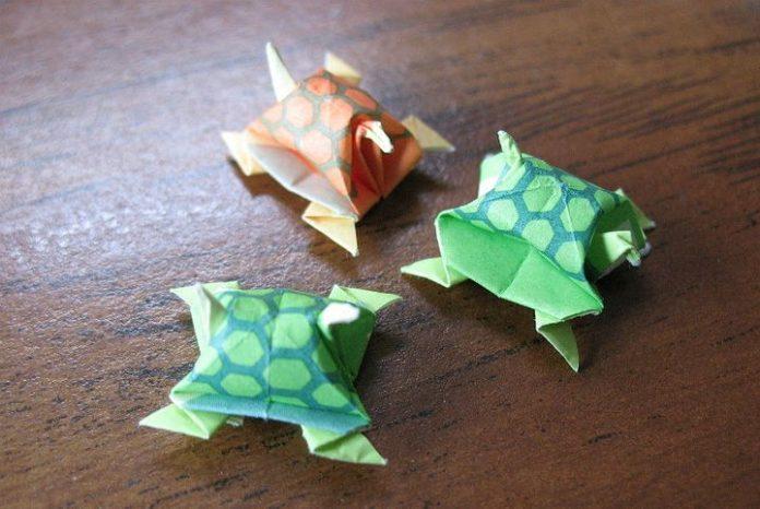 Оривердің оригами-тасбақасы