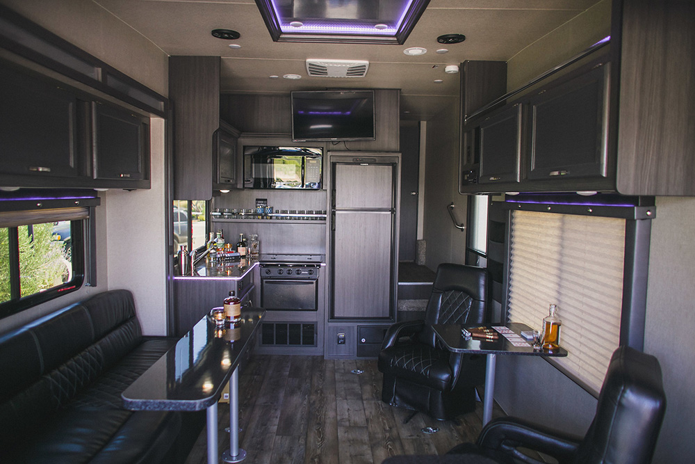 Mobile Man Cave   All About Events interior mobile man cave