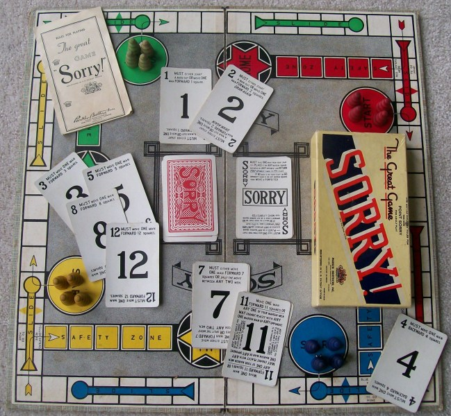 Classic Board Game of Sorry     All About Fun and Games The great game of Sorry  Parker brothers old game
