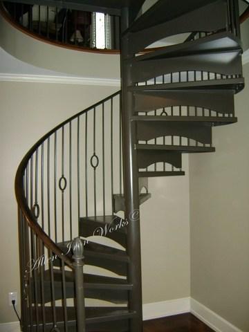 Spiral Stairs Birmingham Al Allen Iron Works Birmingham Al   Iron Works Spiral Stairs   Stair Railing   Stair Case   Stair Treads   Handrail   Wrought Iron