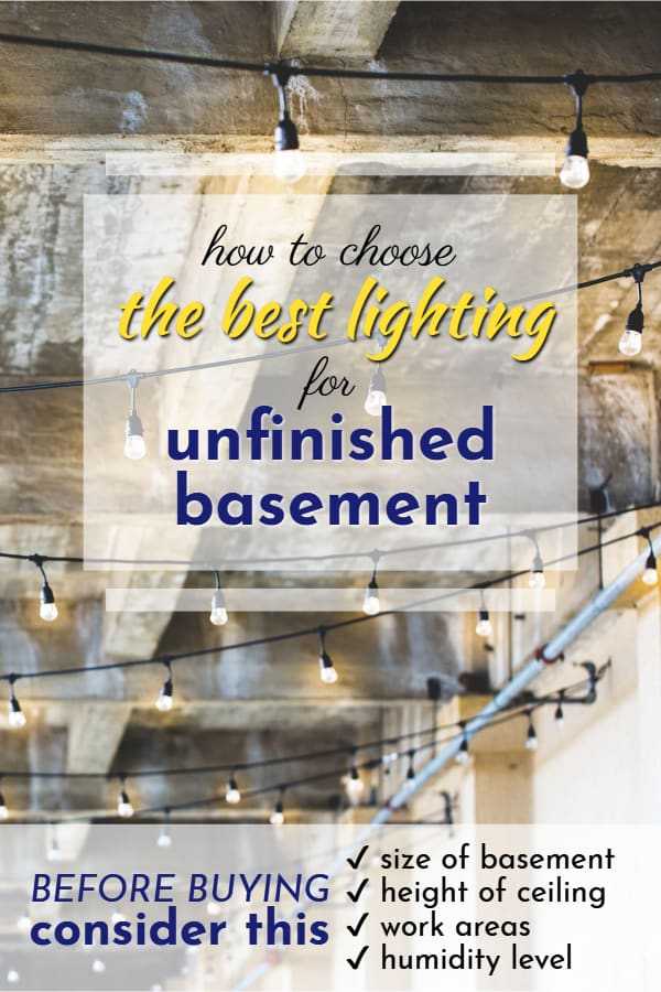 Best Lighting For Unfinished Basement 2019 A Nest With A