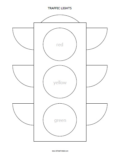 stop light coloring page # 7