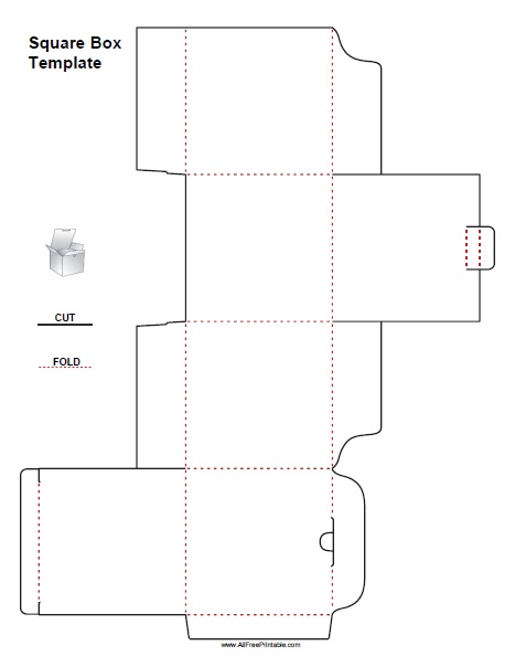 Square Box Template - Free Printable - AllFreePrintable.com