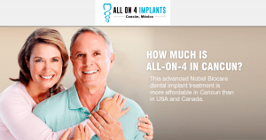 How much is an All-on-4 dental implant treatment?