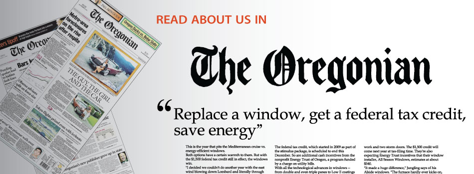 Oregonian mentions All Season Windows