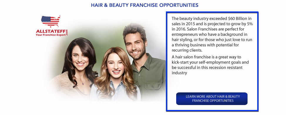 HAIR & BEAUTY FRANCHISE OPPORTUNITIES: ALLSTATEFF.COM – FRANCHISE EXPERT