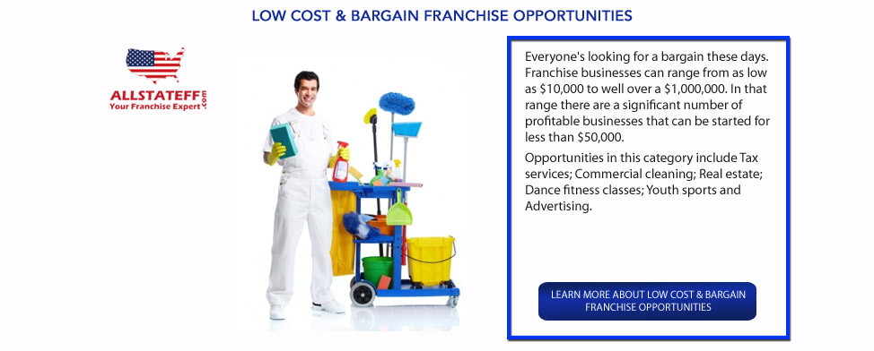 LOW COST & BARGAIN FRANCHISE OPPORTUNITIES: ALLSTATEFF.COM – FRANCHISE EXPERT