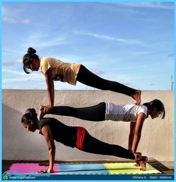 Three Person Yoga Pose Challenge Abc News