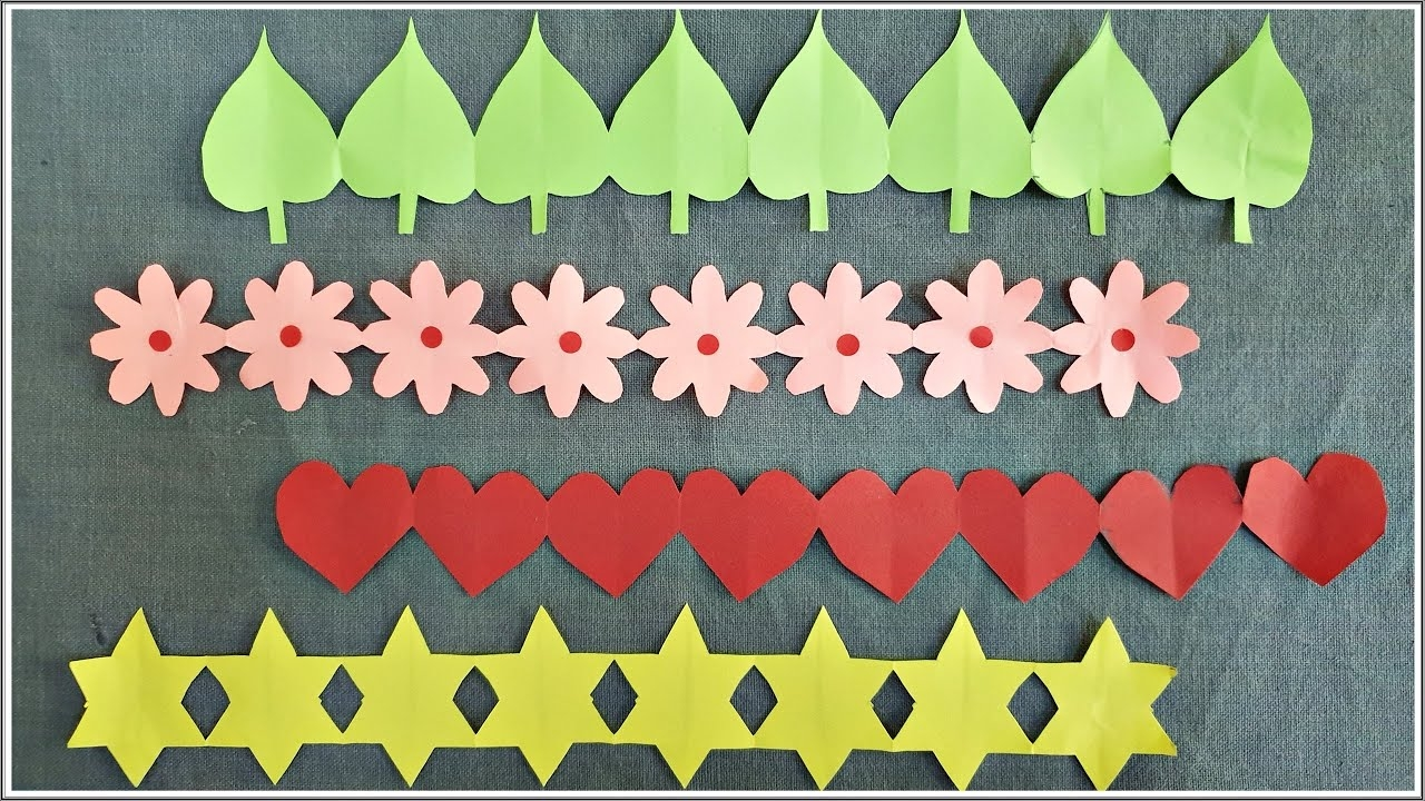 Bulletin Border Colorful Board Flowers