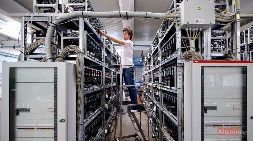 промышленные условия добычи биткоинов