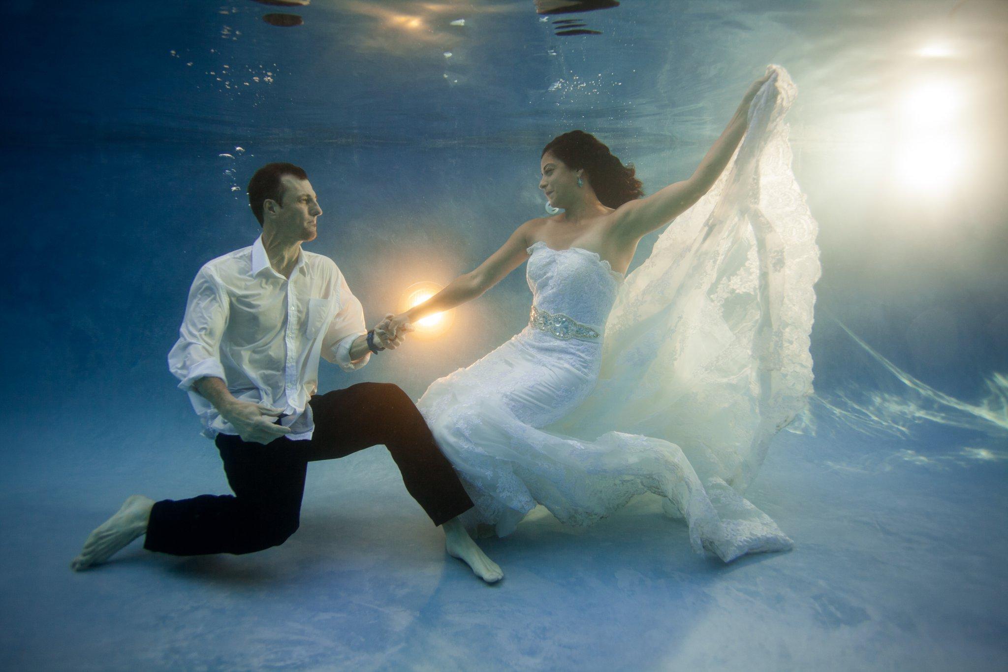 Phoenix Underwater Trash The Dress Session Alyssa Campbell Photography