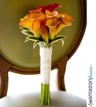 bridal bouquet flame