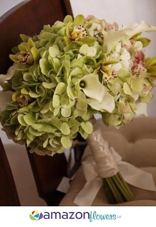 bridal bouquet hearts promise