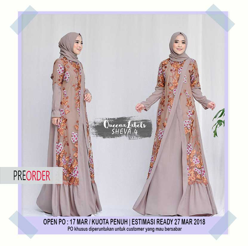 Wa   Jual Gamis Pesta Trend  Sheva Dress Vol  By Queenalabels