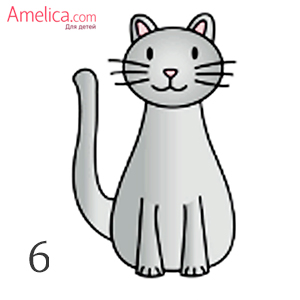 고양이를 서서히 그릴 수있는 아이로서