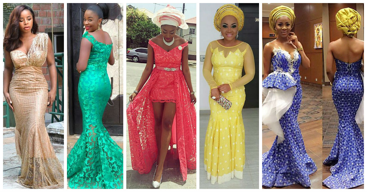 20 Latest and Most Recent Asoebi In Lace Style