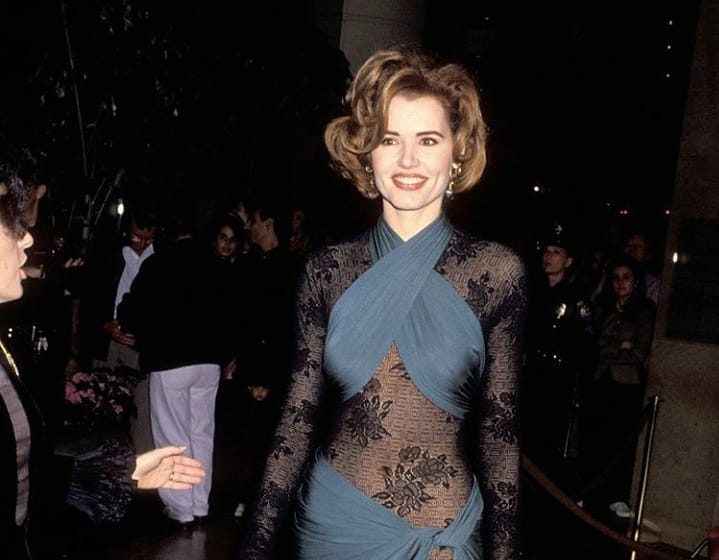 Fashion Flashback: Geena Davis Stuns At 1992 Golden Globes Awards