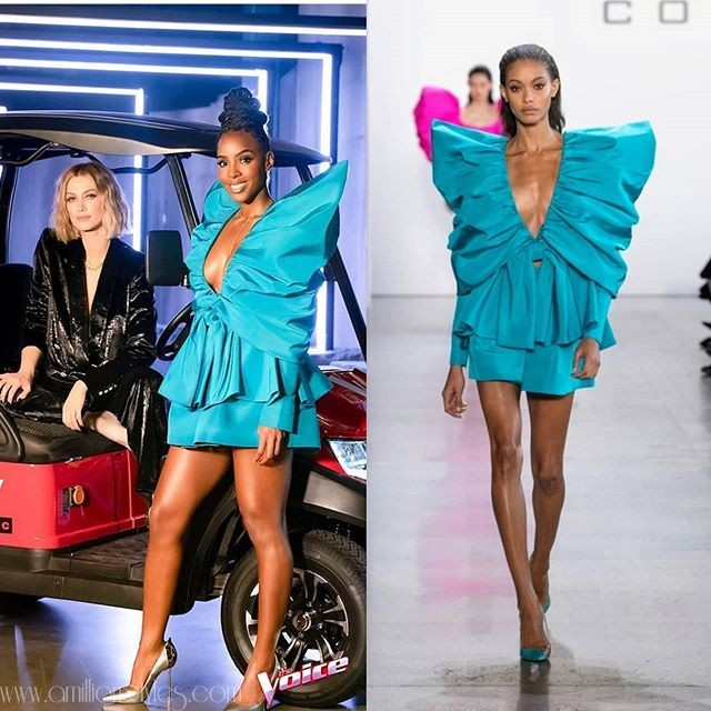 Kelly Rowland Stuns in Cong Tri Spring Summer 2020 For The Voice Australia