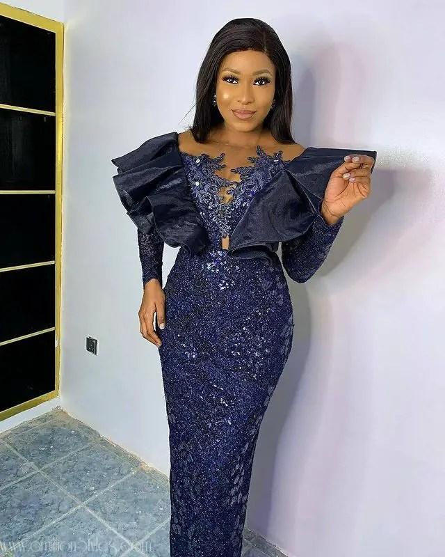 Exquisite Nigerian Lace Asoebi Styles-Volume 11