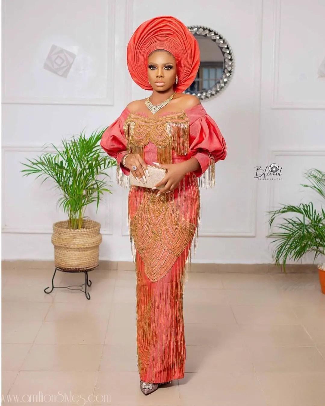 Exquisite Nigerian Lace Asoebi Styles-Volume 12