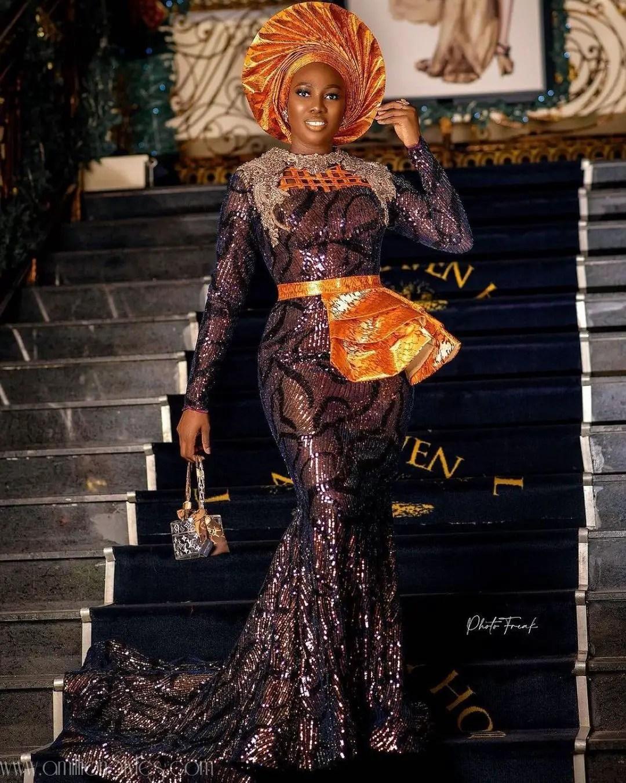 Exquisite Nigerian Lace Asoebi Styles-Volume 17