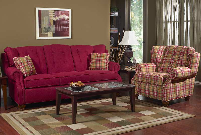Living Room Chair Ottoman